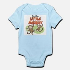 Cute I%27m little monkey Infant Bodysuit
