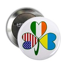 "Shamrock of Ukraine 2.25"" Button"