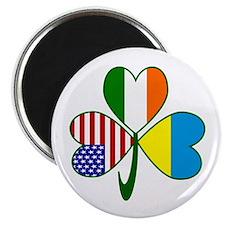 """Shamrock of Ukraine 2.25"""" Magnet (100 pack)"""