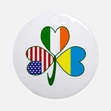 Shamrock of Ukraine Ornament (Round)