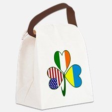 Shamrock of Ukraine Canvas Lunch Bag