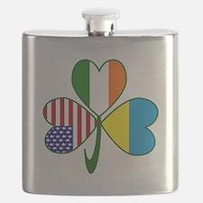 Shamrock of Ukraine Flask