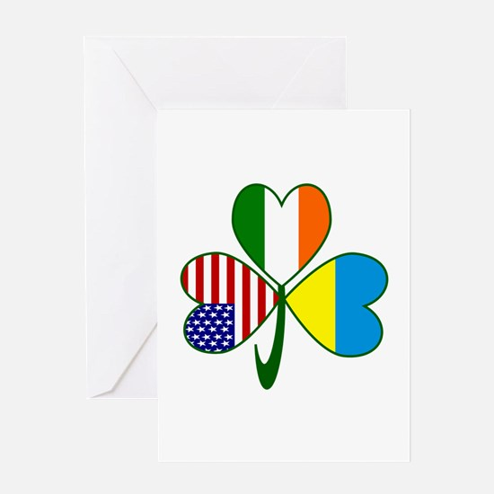 Shamrock of Ukraine Greeting Card