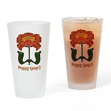 Wild Poppy Drinking Glass