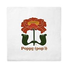 Wild Poppy.png Queen Duvet