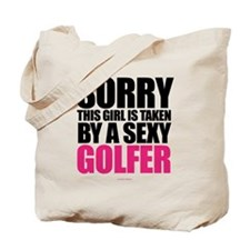Girl Taken By Sexy Golfer Tote Bag