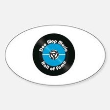 Doo Wop Music Hall of Fame Sticker (Oval)