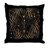 Black and gold sparkle Cotton Pillows