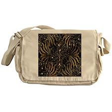 Black and Gold Victorian Sparkle Messenger Bag