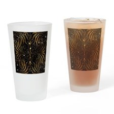 Black and Gold Victorian Sparkle Drinking Glass