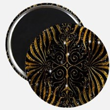 Black and Gold Victorian Sparkle Magnet
