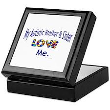 My Autistic Brother & Sister Love Me Keepsake Box