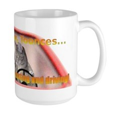 Now Toonces...Don't text and drive! Mug