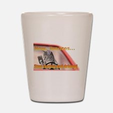 Now Toonces...Don't text and drive! Shot Glass