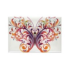 Scroll Butterfly Magnets