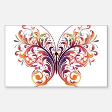 Scroll Butterfly Decal