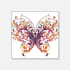 Scroll Butterfly Sticker