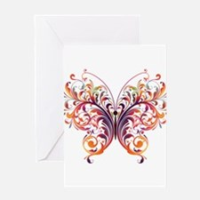 Scroll Butterfly Greeting Cards
