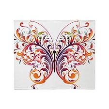 Scroll Butterfly Throw Blanket