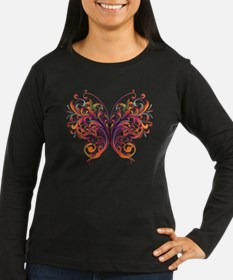 Scroll Butterfly Long Sleeve T-Shirt
