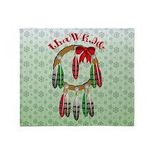 Cherokee Christmas Dream Catcher Throw Blanket