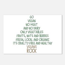 Go Vegan Postcards (Package of 8)