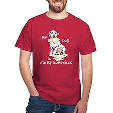Dalmatian Ate Homework T-Shirt