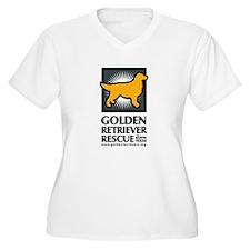 Grrnt Logo V-Neck Plus Size T-Shirt