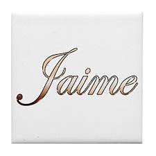 Gold Jaime Tile Coaster
