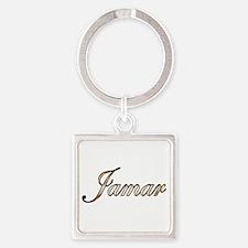 Gold Jamar Square Keychain