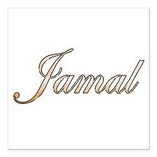 "Gold Jamal Square Car Magnet 3"" x 3"""