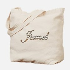 Gold Jamel Tote Bag