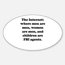 The Internet Oval Decal