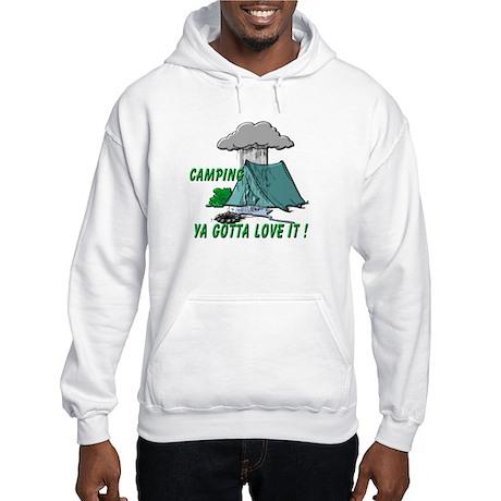 Camping in the Rain Hooded Sweatshirt