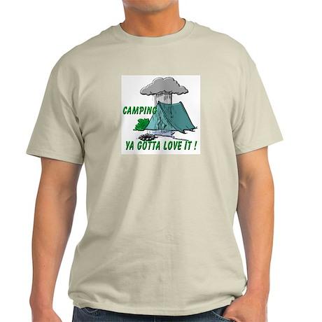 Camping in the Rain Light T-Shirt