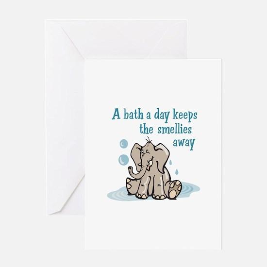 A Bath A Day Greeting Cards
