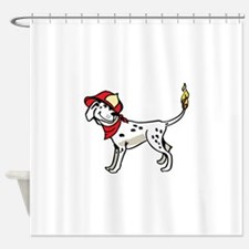 DALMATION FIREFIGHTER Shower Curtain