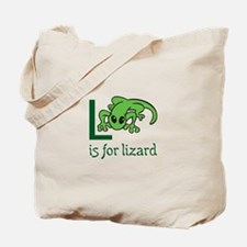L Is For Lizard Tote Bag