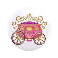 """CINDERELLA CARRIAGE 3.5"""" Button (100 pack)"""