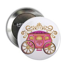 """CINDERELLA CARRIAGE 2.25"""" Button (100 pack)"""