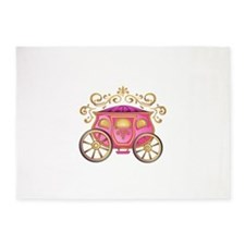 CINDERELLA CARRIAGE 5'x7'Area Rug