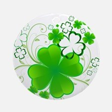 Clovers and Swirls Ornament (Round)