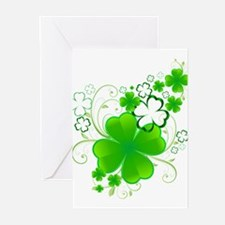 Clovers and Swirls Greeting Cards