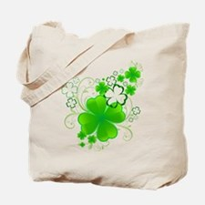 Clovers and Swirls Tote Bag