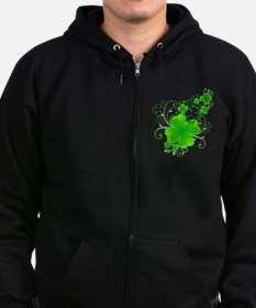 Clovers and Swirls Zip Hoodie