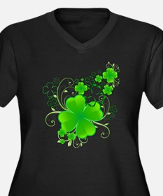 Clovers and Swirls Plus Size T-Shirt