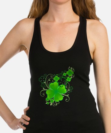 Clovers and Swirls Racerback Tank Top