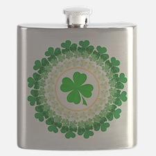Shamrock Circle Flask