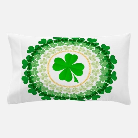 Shamrock Circle Pillow Case