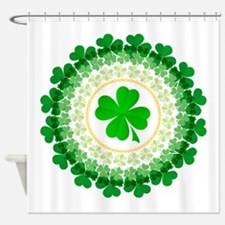 Shamrock Circle Shower Curtain